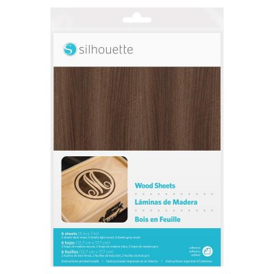 silhouette wood sheet paper