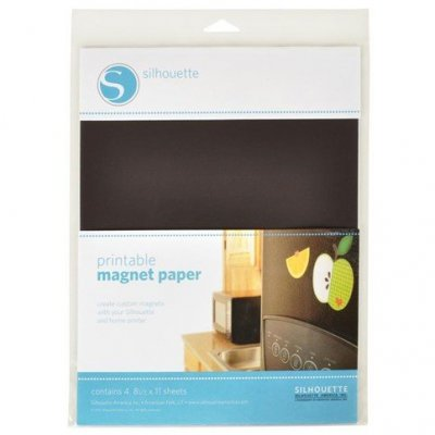 silhouette adhesiv magnet paper